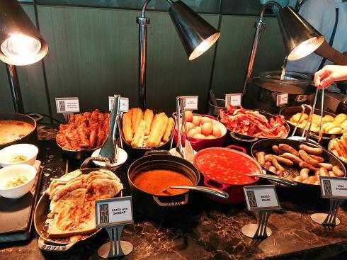 マリーナベイサンズ CLUB55 朝食ビュッフェのラインナップ