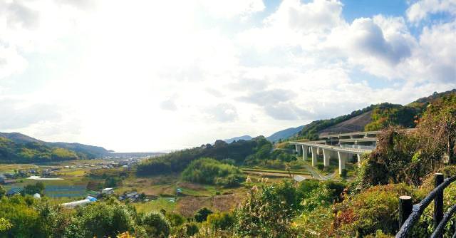 山口・富海(とのみ)PA 展望台からの景色