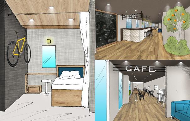 しまなみ海道にサイクリスト専用カフェホテル「IKIDANE」オープン