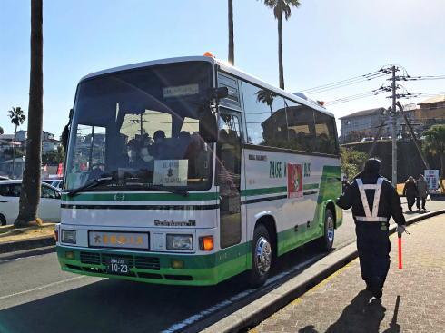 宮崎 天福球場 臨時駐車場へのバス