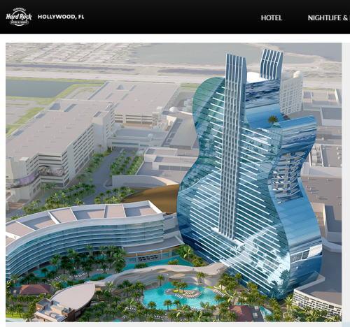 ギターホテル、ハードロックカフェ運営会社がフロリダにギター型ホテル