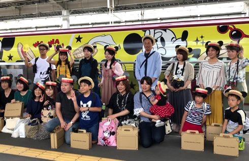ミッキー新幹線で鹿児島中央駅に到着!