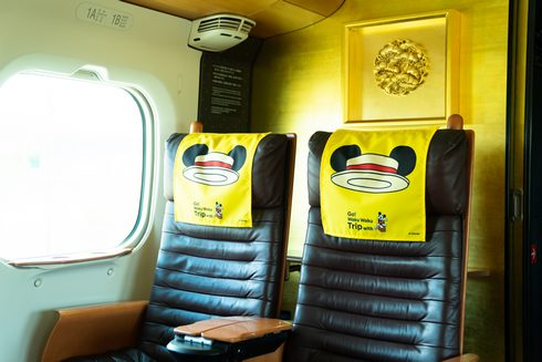 ミッキー新幹線 枕カバー