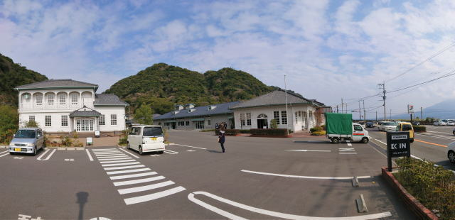 スターバックスコーヒー鹿児島仙厳園店 外観パノラマ