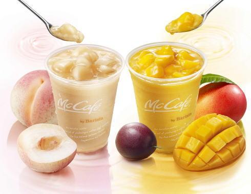 桃にマンゴー!マックの夏スムージーは+60円でトッピング倍!
