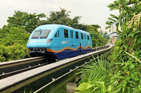 セントーサエクスプレスは、シンガポールのエンタメ島「セントーサ島」に渡るモノレール