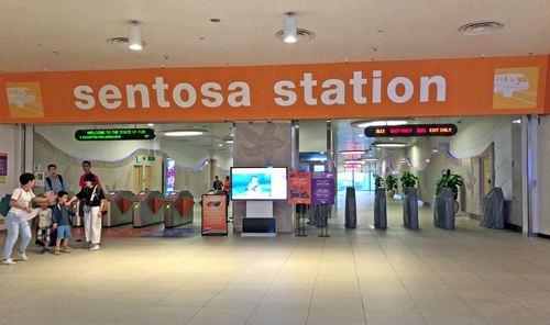 セントーサエクスプレスの「セントーサ駅」は、ビボシティ3Fに