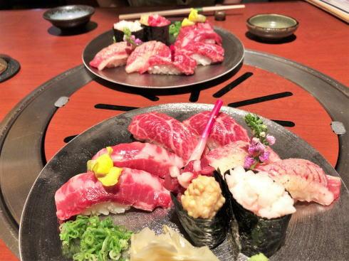 馬肉専門店 熊本 菅乃屋 握り寿司盛り合わせ