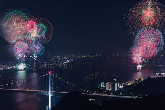 全国花火大会ランキング7位 関門海峡花火大会