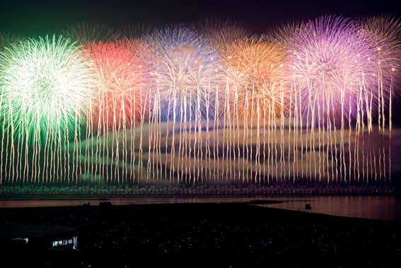 全国花火大会ランキング6位 ぎおん柏崎まつり海の大花火大会