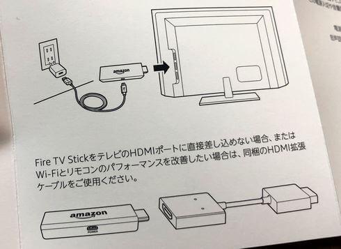 Fire TV Stickでネット接続が不安定な時は、HDMI拡張ケーブルを