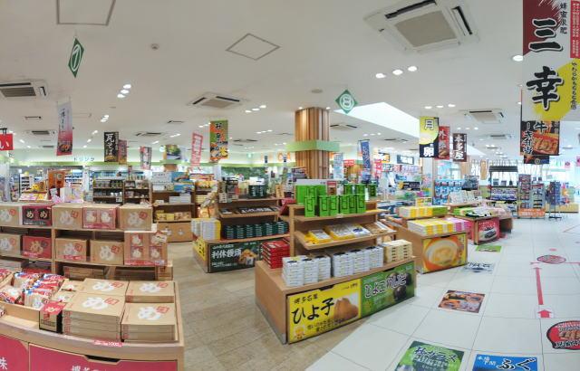 美東サービスエリア(上り線) 店内の様子