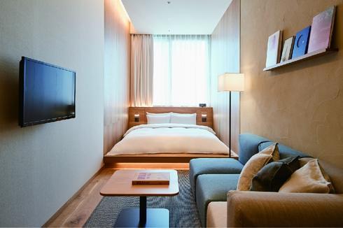 MUJIホテル銀座、部屋タイプは9つ。2段ベッドタイプやスイートルームも
