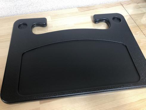 車用の机、ハンドルに簡単設置できるテーブル