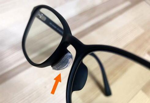 ジンズ(JINS)のPCメガネは、鼻パットが無い。セルシールを試してみたが…