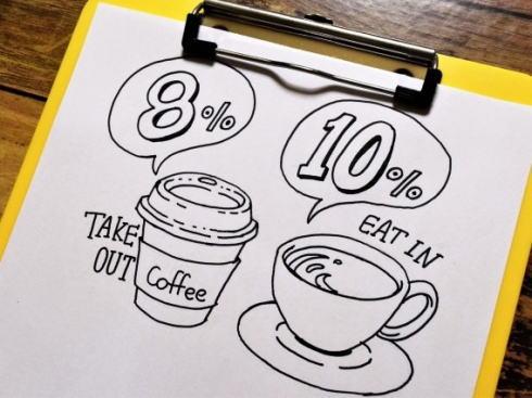 コンビニ 店内飲食はレジでの事前申告制、消費税は10パーセント