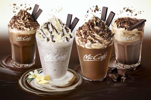 冬の濃厚デザートドリンク、マックから「チョコレートフラッペ」など全4種