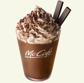 マクドナルドのプレミアムチョコレートフラッペ