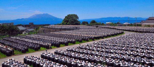 坂元醸造さんの黒酢の「壺畑」