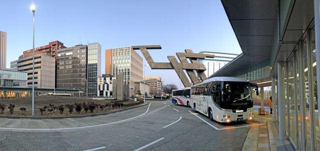 金沢駅、金沢港口にバスターミナル