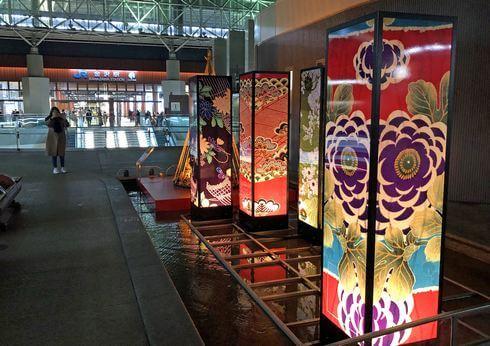 金沢駅のおもてなし「古都紡ぐ光里」