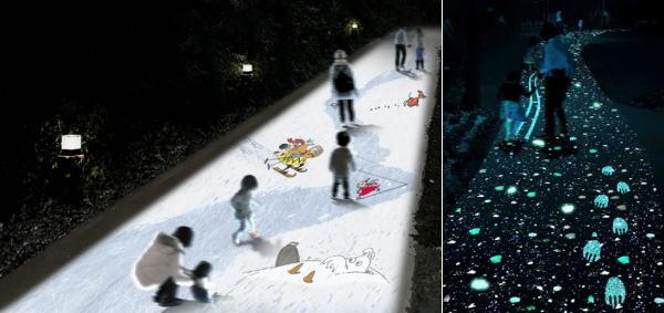 埼玉県 ムーミンバレーパークでナイトイルミネーション