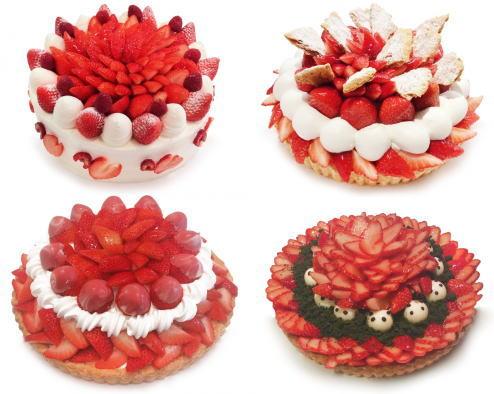 カフェコムサ「いちごの日」限定!全国35店舗で、各店限定の苺ケーキ