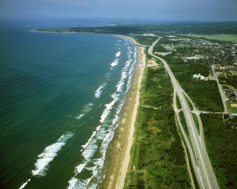 千里浜なぎさドライブウェイ 空からの写真