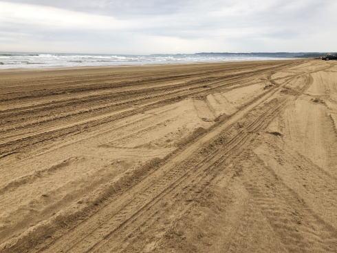 千里浜なぎさドライブウェイ 砂浜の写真