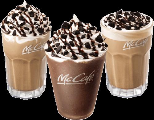 マックカフェに復活「オレオチョコフラッペ」などザクザク食感ドリンク3種