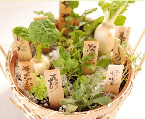 春の七草籠、年末年始の挨拶・お年賀に