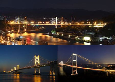 新尾道大橋、来島海峡大橋の2020年度ライトアップスケジュール