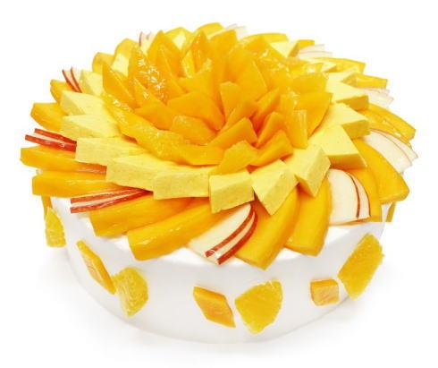 カフェコムサ「世界のマンゴーを訪ねて」アップルマンゴーのショートケーキ
