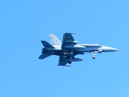 岩国基地へ向かう飛行機