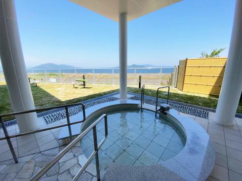 岩国市日の出公園にスパサンライズ、余熱有効利用の温浴施設・無料足湯も