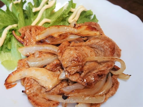 大豆ミート 生姜焼き例