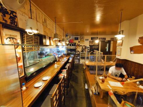 福岡県久留米市 骨付きカルビーの店 げん氣亭 店内の様子