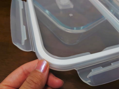 スリコ 耐熱ガラス保存容器 フタ