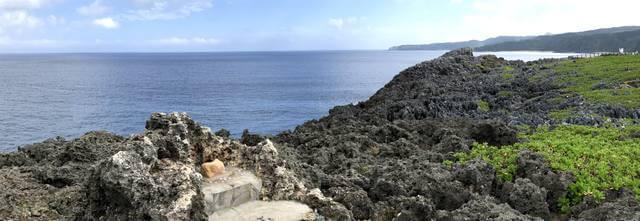 辺戸岬から見る水平線