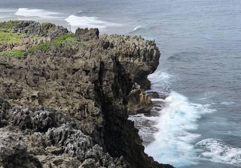 辺戸岬の断崖絶壁