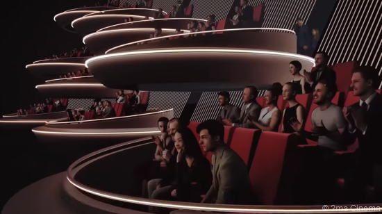 ランス・パリに未来型映画館「Ōma Cinema」スターウォーズの会議場に似ている