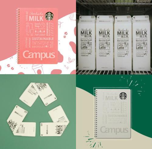 スタバがミルクパック再活用でキャンパスとコラボ「キャンパスリングノート」