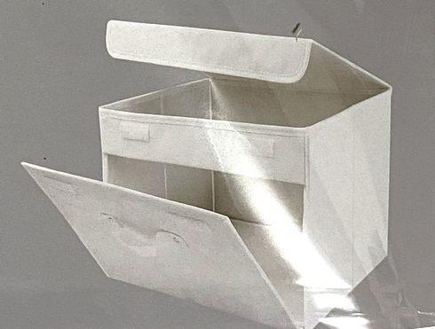 スリーコインズの「フタ付前開きワイド収納BOX」が便利