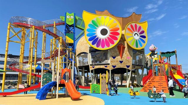 愛宕山ふくろう公園、巨大な無料遊園地のよう!わくわくが止まらないスポット山口県岩国市に