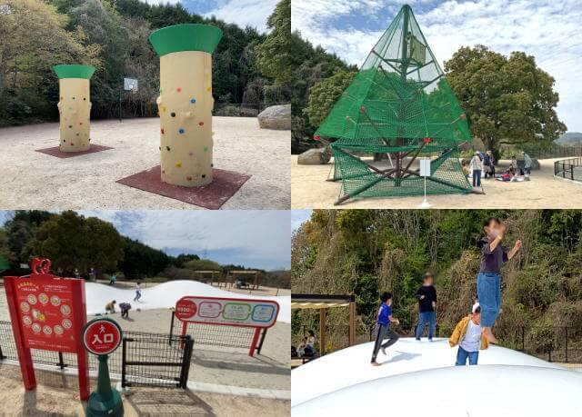蜂ヶ峯総合公園 こども広場の中型・小型の遊具