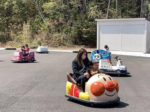蜂ヶ峯総合公園に、アンパンマンや機関車トーマス、消防車やパトカーの子供向けカート