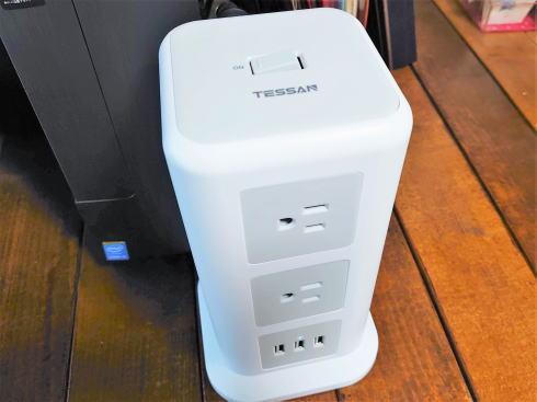 電源タップ、PC周辺や充電必要な電子機器が沢山ある方におすすめ「タワー型」