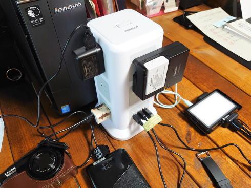 タワー型電源タップ 使用例