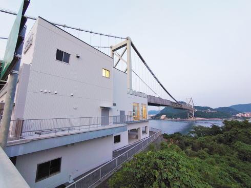 関門自動車道 壇之浦PA(下り線)新店舗工事中の様子2