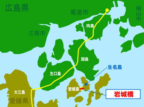 岩城橋 位置図(地図)